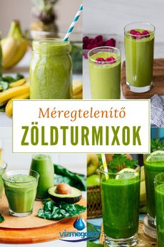 Detox Drinks, Healthy Drinks, Healthy Recipes, Herbal Remedies, Natural Remedies, Greens Recipe, Weight Loss Smoothies, Smoothie Recipes, Food To Make