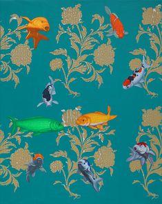 김근중-Kim Keunjoong Natural-Being꽃세상原本自然圖.11-30. 91.8×72.3cm.Acrylic-on-Canvas. 2011