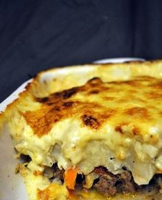 Cauliflower Gratin With Beef Gourmet Recipes, Keto Recipes, Cooking Recipes, Healthy Recipes, Food Porn, Carne Picada, Quiches, Omelettes, Breakfast For Dinner