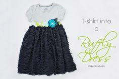 Ruffly dress tutorial