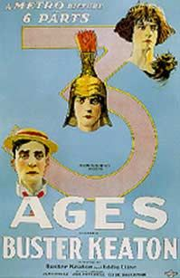 Three Ages is a 1923 black-and-white American feature-length silent comedy film starring comedian Buster Keaton and Wallace Beery. The first feature Keaton wrote, directed, produced, and starred in (unlike The Saphead (1920), in which he only acted), Keaton structured the film like three inter-cut short films. The structure also worked as a satire of D. W. Griffith's 1916 film Intolerance. The film was shot in this manner as a kind of insurance for the Studio.