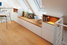 Attic Master Bedroom, Attic Bedroom Designs, Attic Rooms, Attic Renovation, Attic Remodel, Deco Studio, Loft Room, Home Room Design, New Room