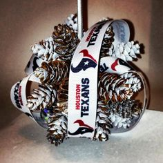 Houston Texan's Ornament by samiDesigns on Etsy