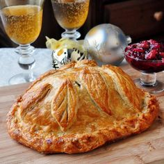 Cranberry Hazelnut Turkey Wellington – This golden turkey wellington is a great alternative for Holiday cooking when serving just a few people. So impressive & so easy using frozen puff pastry. Rock Recipes, Fall Recipes, Holiday Recipes, Holiday Meals, Christmas Recipes, Yummy Recipes, Recipies, Christmas Dinners, Christmas Foods