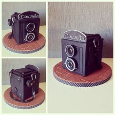 Old Fashioned Camera Cake Gorgeous Cakes, Amazing Cakes, Old Fashioned Camera, Camera Cakes, Bithday Cake, Dad Cake, Photographer Gifts, Cakes For Men, Sugar Art