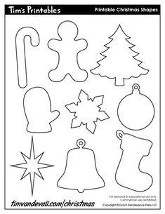 Printable Christmas Ornaments, Christmas Tree Template, Christmas Stencils, Handmade Christmas Decorations, Free Christmas Printables, Printable Christmas Templates, Christmas Cookies, Diy Ornaments, Beaded Ornaments