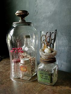 "Decorative Jars Livingquarters 5"" Tall Colored Glass Decorative Bottle"