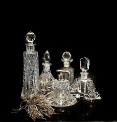 Vintage perfume bottles by charlene
