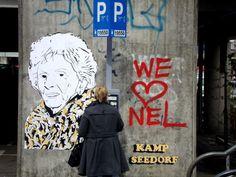 Dat Nel geliefd was bij leven was al duidelijk, maar dat ze ook na haar dood nog populair is, bleek kortgeleden toen er plotsklaps een graffiti-portret van haar opdook in Amsterdam-Noord. Dochter Hanny Veerkamp kon het niet geloven toen ze het zag.   http://www.manbijthond.nl/fragmenten/ode-aan-nel-veerkamp