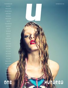 Typography for U Magazine Sports Magazine, Magazine Cover Design, Magazine Covers, Typography Images, Fashion Cover, Publication Design, Graphic Design Branding, Covergirl, Editorial Design