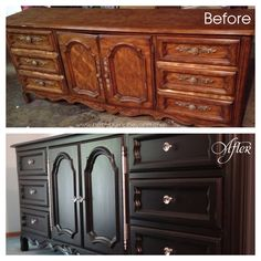 DIY Dresser Transformation - I need to do this with my dining set!