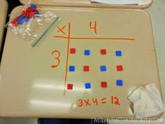 Learning Multiplication with Arrays! Learning Multiplication with Arrays! Learning Multiplication, Multiplication Strategies, Math Strategies, Math Math, Math Fractions, Math Resources, Teaching Math, Teaching Ideas, Math Board Games