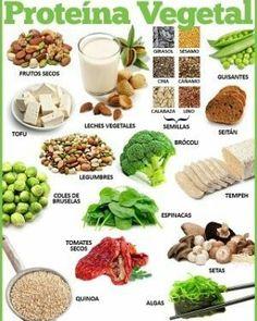 Para los que preguntan por la proteína vegetal... aquí hay algunos ejemplos de dónde encontrarla. #plantbased protein