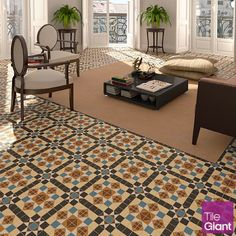Create a completely modern and unique ambience whilst capturing that classic Victorian aura with the Dorset Marron tile #tiles #interiors #DIY