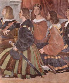 Raffael, Stanza di Eliodoro im Vatikan für Papst Julius II., Wandfresko, Szene: Messe von Bolsena, Detail, 1512
