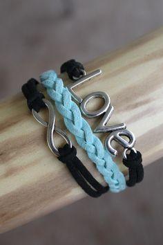 Corded Wrap Bracelet  Love Infinity by CraftGirlDesigns on Etsy, $15.00