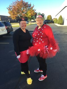 Mickey Mouse and Minnie Mouse #HappyHalloween