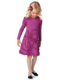 pink ruffle flower dress - Chasing Fireflies
