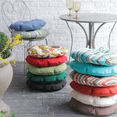 Coral Coast 16 in. Round Bistro Outdoor Seat Cushion - Set of 2   www.cushionsgalore.com
