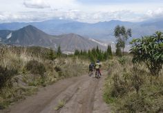 Cycling to volcano Casitagua