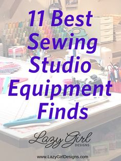 Whether you have a dedicated sewing space or pack things up and stow them away, good tools and equipment make sewing more enjoyable and successful. These are some of my favorite finds for my sewing space. Check out my recommendations for everything from chairs to irons. Treat yourself to that special something such as an iron, storage bins, sewing chair, modular shelving, and more. #Sewing