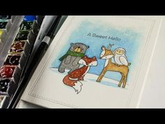 A Sweet Hello - Watercoloring with Sandy Allnock - YouTube