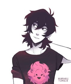 Keith with a lion on his black shirt from Voltron Legendary Defender Voltron Klance, Voltron Memes, Voltron Fanart, Form Voltron, Voltron Ships, Keith Kogane, Manhwa, Lion Shirt, Fandoms
