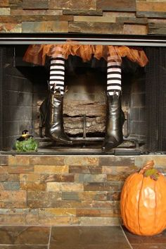 Witchy Woman Halloween Mantel