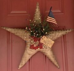 Primitive Americana Door Greeter