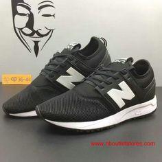 New Balance 247 Classic Black Dark-grey Summer Shoes For Women