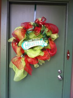 Christmas wreath for front door this year...
