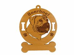 4009 Boerboel Head Personalized Dog Ornament by gclasergraphics, $9.95