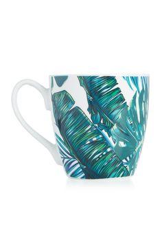 Mug à imprimé palmier