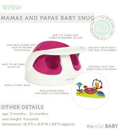 Mamas and Papas Baby Snug Review - a great infant seat with an extra sturdy base and ample support for your little one!