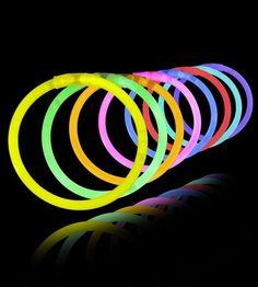 "10, 50 or 100 Pack Combo of Any Color 8"" GLOW Bracelets Party Rave Light Sticks"