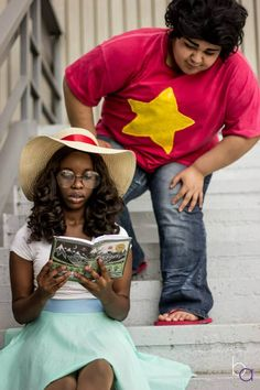 Steven Universe and Connie by Petite Ebby and Lunadawn. Photographed by Brittany Anne Photography.