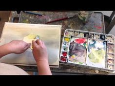 Watercolor Painting of a Yellow Apple by Yong Chen, part 1