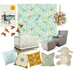 soft & sweet #nursery. featuring the oeuf classic crib, sleep sheep, and luca glider -- find them all at giggle!