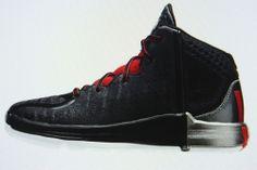 Derrick D Rose 4 BASKETBALL SHOES SIZE 13K (KIDS) NEW*BLACK RED* CHICAGO BULLS