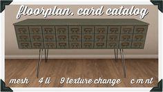 floorplan. card catalog