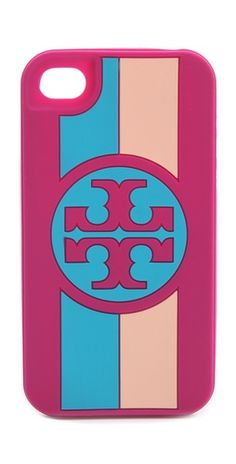 the color-blocked goodness of Tory Burch's iPhone case.