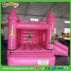 pink dreamlike bouncy castle for girls