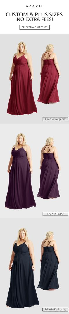 Dress up in our strappy Eden gown! Available in sizes 0-30 and free custom sizing! Every woman deserves their dream dress, that fits right while still being budget friendly!