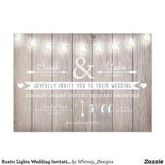 素朴なライト結婚式招待状 12.7 X 17.8 インビテーションカード