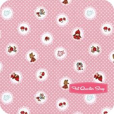 Little Red Riding Hood Pink Scallops Yardage SKU# C3272-PINK