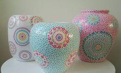 Wauw! Dot Art Painting, Pottery Painting, Ceramic Painting, Fun Crafts, Diy And Crafts, Arts And Crafts, Porcelain Jewelry, Fine Porcelain, Mandala Dots