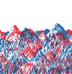 Montagnes superposées