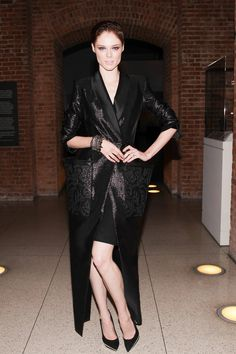 Coco Rocha got dramatic at the Jean Paul Gaultier opening bash at the Brooklyn Museum.