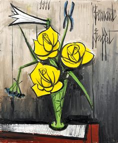 Art for your wallpaper: [EXPRESSIONISM] Bernard Buffet's Flowers