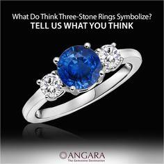Three Stone #SapphireRing